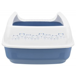 Delio Litter Box Blue and white 49.5 x 38 x 38 x 20 cm for cats Litter Boxes Trixie TR-40391