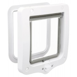 Cat flap 2 positions white or grey 20 × 22 cm external for cat Trixie flap TR-44201D