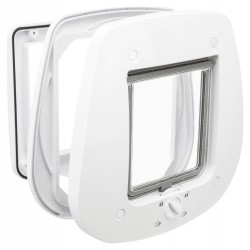 Trixie TR-44221 4 position cat flap 27 × 26 cm outside white. for cats. Cat flap