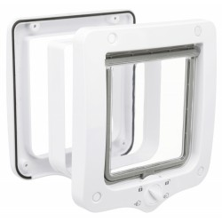 4 position cat flap with tunnel 20 × 22 cm ext grey or white for cat Trixie TR-44231D