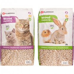 Flamingo Pet Products Wood pellet litter - 25 Liters or 15 kg. for cats or rodents. Litter