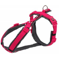 Trixie TR-1997311 trekking harness for dog. size M-L. color pink / graphite grey. dog harness