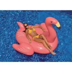 Giant pink flamingo buoy Water games Jardiboutique SC-FUN-900-0003
