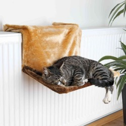 Radiator bed 45 × 24 × 31 cm brown for cats TRIXIE jollypaw range Trixie sleeping TR-4322