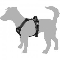 Black dog harness Balou 3 sizes available M-L-XL Flamingo FL-519160D dog harness