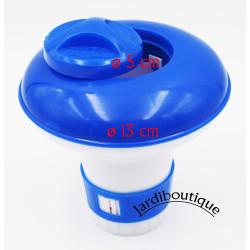 kokido Petit doseur diffuseur de chlore ou brome flottant en plastique pour petite pastille SC-PSL-450-8004 Diffuseur