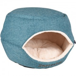 Flamingo FL-560766 Basket 45 x 35 x 35 cm Snozebay 2 in 1 blue for cat or small dog Sleeping