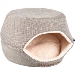 Flamingo Korb 45 x 35 x 35 cm Snozebay 2 in 1 braun für Katze oder kleinen Hund FL-560763 Schlafen