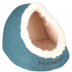 Flamingo Panier 38 x 40 x 32 cm igloo snoozebay bleu pour chat FL-560767 Couchage