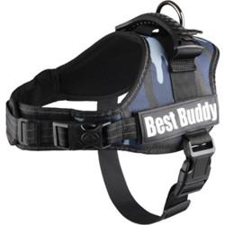 Harnais pour chien best buddy pluto couleur bleu, taille M, L ou XL harnais chien Flamingo FL-518735D