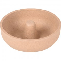 0.5 or 0.8 L Rimboé anti-grabble anti-slip dog bowl taupe bowl, Flamingo bowl FL-518914D