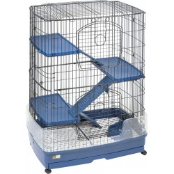 Tower L cage for ferrets and rodents 80 x 55 x 108 cm Flamingo cage FL-208078