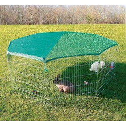 Trixie TR-6243 external enclosure with protective net ø 210 x 75 cm. pour animaux. Cage