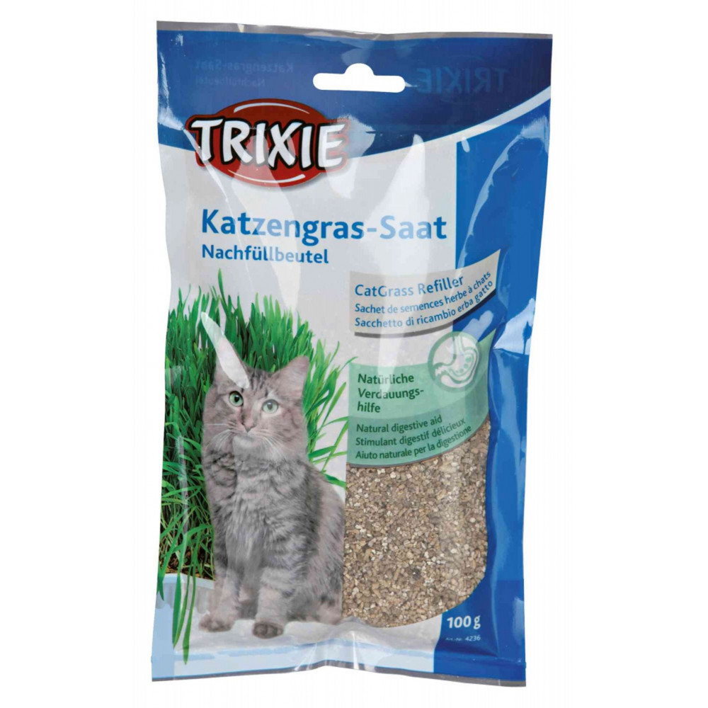 Trixie Herbe à chat orges 100 gr TR-4236 Herbe a chat