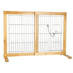 Trixie Verstellbare Holzbarriere für Hunde von 61-103 × 75 cm Länge TR-3946 Nische, Zaun und Park