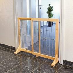 Barrière bois pour chiens réglable de 61-103 × 75 cm Niche, barrière et parc Trixie TR-3946