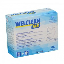 flovil WELCLEAN TAB, Cleaner, degreaser, descaler and descaler for swimming pool filter Treatment product