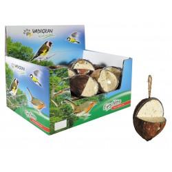 Une noix de coco de 350 gramme pour oiseaux, ENJOY de la nature Nourriture Vadigran VA-4320