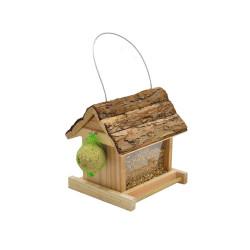 Vadigran Feeder LIDIA bark roof 19 X 17.5 X 19.5 cm. birds Outdoor feeders