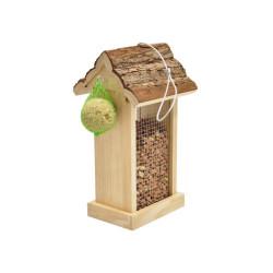 Vadigran Distributing bird feeder, roof in bark 15x14x28.5 cm. Outdoor feeders