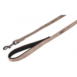 Flamingo FL-519323 Lead 1 M - 15 mm wide. DELU, taupe color, for Dog. dog leash