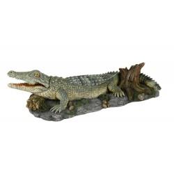Trixie crocodile avec sortie d'air 26 cm décoration poisson TR-8716 Décoration et autre