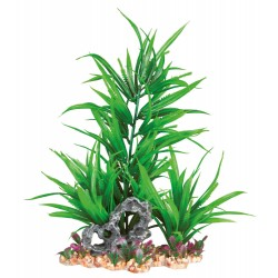 Trixie TR-89303 Plastic plant on a bed of gravel and resin 28 cm fish decoration Decoration and other