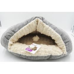 Panier 49 x 40 cm grotte Zupo pour chat gris et beige Couchage Flamingo FL-560755