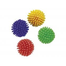 lot 4 balles a jouer pour chat - balle type hérisson 3,8 CM Jeux Vadigran VA-14295