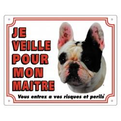 bouledogue français panneau chien Panneau Vadigran VA-23491