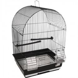 Cage pour canaris Alor 2 noir 34.5 x 28 x 48.5 cm Cages, volières, nichoir Flamingo FL-110216