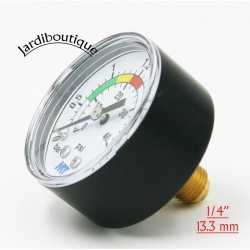 """MT pressure gauge for pool filter rear mounting rear connection 1/4"""" thread MT pressure gauge MPISA50/030"""