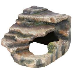 Rocher d'angle avec grotte et plateforme 16 x 12 x 15 cm. pour reptile. Décoration et autre  Trixie TR-76194