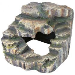 Rocher d'angle avec grotte et plateforme 19 x 17 x 17 Décoration et autre  Trixie TR-76195