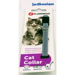 1 Reflective silver grey collar for cats Collar, lead, harness Flamingo FL-28092