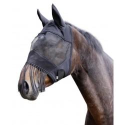 kerbl Masque anti-mouches. taille COB. protection oreille et franges naseaux. pour chevaux. soins chevaux