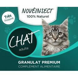 novealand complément alimentaire pour votre chat, granules de larves déshydratées d'insectes, 110 grammes GR2-110-CAT Nahrung...