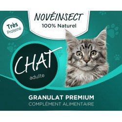 novealand GR2-110-CAT food supplement for your cat granules of dehydrated larvae of hermetia illucens 110 grams complément al...