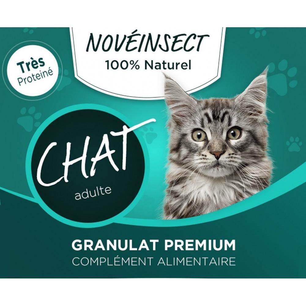 complément alimentaire pour votre chat granules de larves déshydratées d'hermetia illucens 110 grammes Nourriture novealand G...