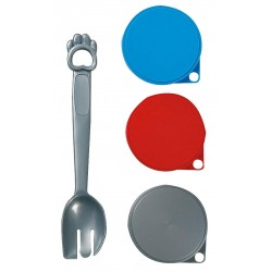 Flamingo FL-504358 3 can lids 7.5 cm and spoon.for cat. food accessory