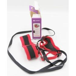 Harnais pour chat, couleur noir et rouge, taille M, réglable. Collier, laisse, harnais  Flamingo FL-1031364