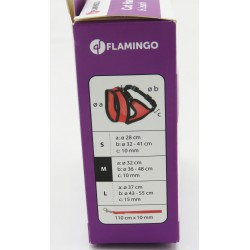 FL-1031364 Flamingo Harnais pour chat, couleur noir et rouge, taille M, réglable. collier laisse cage