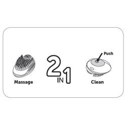 FL-518088 Flamingo Champú, cepillo de limpieza y masaje 2 en 1 Champú