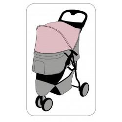 Flamingo Poussette Chien Kiara Rose FL-517740 Poussette et trolley