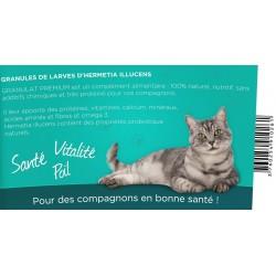 novealand complément alimentaire pour votre chat, granules de larves déshydratées d'insectes, 110 grammes GR2-110-CAT Complém...