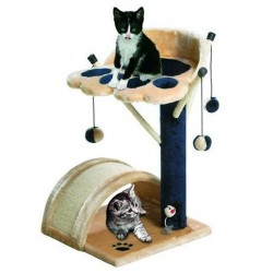 Flamingo FL-5334535 cat tree, size 36 by 36 cm height 54 cm, viva 3, beige color. Arbre a chat, griffoir