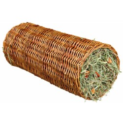 Trixie TR-60776 ø 15 × 33 CM Wicker tunnel with hay Friandise
