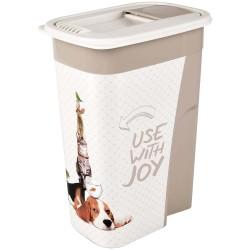 Boite stockage 4.1 Litres june pour nourriture chien Boite rangement nourriture Flamingo FL-518984