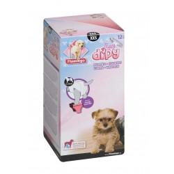 COUCHES XXS de 15 a 30 cm DIPY 12 pieces . POUR CHIENS éducation propreté chien Flamingo FL-510583