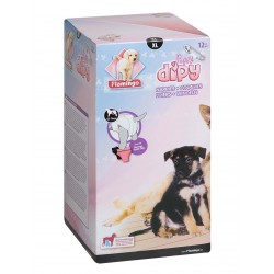 COUCHES XL de 44 a 64 cm DIPY 12 Pièces. - POUR CHIENS éducation propreté chien Flamingo FL-510588